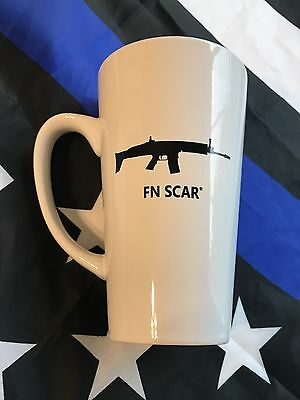 FN SCAR Rifle 14oz Tall COFFEE MUG PS90 P90 5.7 FIVE SEVEN FS2000 FNX FNS FNAR