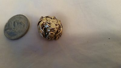 Button Vintage Gold Plated Lion From France