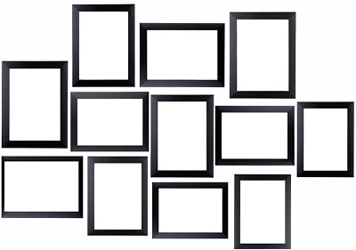 Multi Picture Photo Frames 12 Pieces Set Wall Frames Set Collage Family