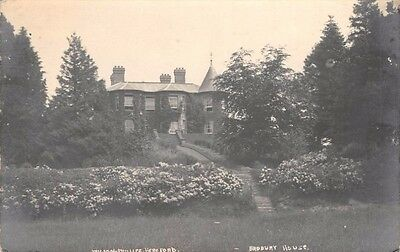 Herefordshire - BRODBURY, Brodbury House near Bredwardine - Real Photo used 1921