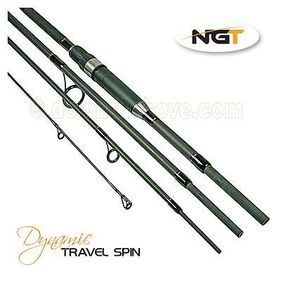 NGT Dynamic Travel Spin 8ft 4pc Carbon Rod - Spinning Rod - Free 1st Class Post