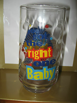 RETRO DIET PEPSI soda pop glass UH Huh You got the right ONE BABY excellent