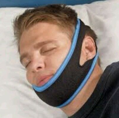 Stop Snoring Chin Strap  Anti Apnea Jaw Solution Sleep TMJ Support Snore Belt