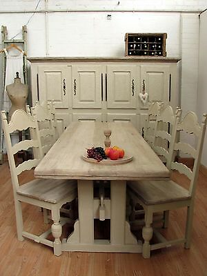 Incredible Vintage French Solid Oak Free Standing Kitchen - C1950
