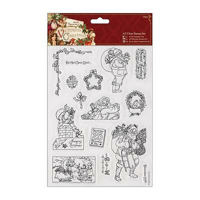Papermania - Victorian Christmas A5 Clear Stamp Set - Santa Original Packaging