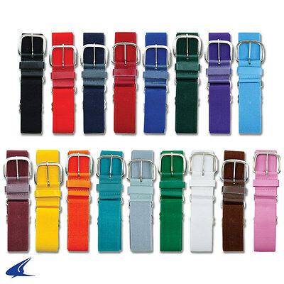 Adjustable Baseball / Softball Belt w/ Leather Tabs in Adult or Youth 20 Colors