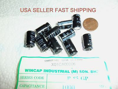 16V Pack of 5 105 C E-Projects B-0002-D12 Radial Electrolytic Capacitor 1000uF