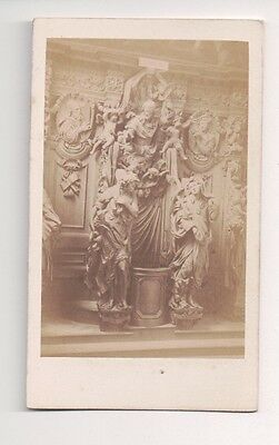 Vintage CDV Confessional of St.Paul Cathedral of Our Lady Antwerp Belgium
