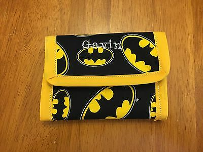 Boy Or Girl Batman Wallet, Black And Yellow, Personalize With Name For Free