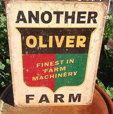 Another Oliver Finest Farm Machinery Tractor Tin Metal Sign Wall Garage Classic