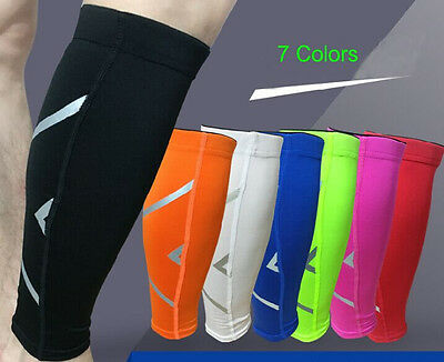Outdoor Sport Leg Calf Brace Support Stretch Sleeve Compression Socks Running