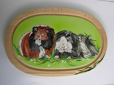 2 Guinea Pigs - Handpainted Wooden Cutting Board-02