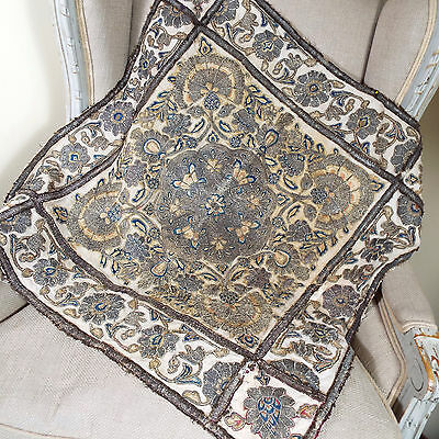 Antique Ottoman Turkish Embroidered  Islamic Panel   Metallic Embroidery C18th