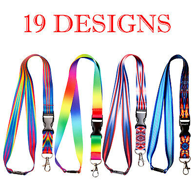 Multicolour Lanyard neck strap for id badge holder with metal clip