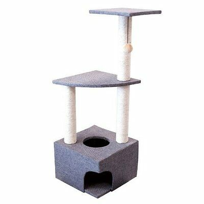 New Cat Scratching Activity Centre Climbing Post Pole Play Toys Sisal Scratcher