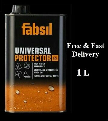 Fabsil Universal Protector UV Sealant Waterproofing Awning Tent Canvas 1 Litre