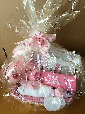 Beautiful Baby Girl Gift Basket With 10 Items