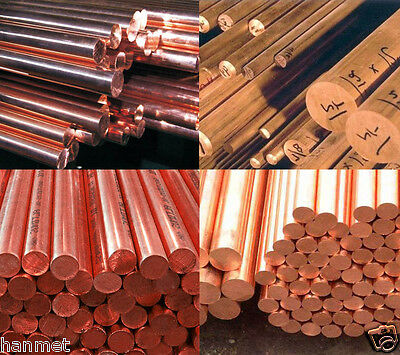 Copper C101 Round Bar/Rod Ø 4-250mm Available in various lengths Metalworking