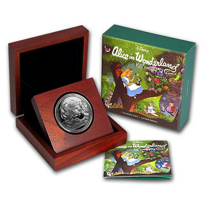 NIUE 2016 ALICE IN WONDERLAND 65th ANNIVERSARY  1 OZ SILVER PROOF $2 COIN!!!!