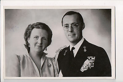 Vintage Postcard Queen Juliana of the Netherlands & Prince Bernhard of Lippe