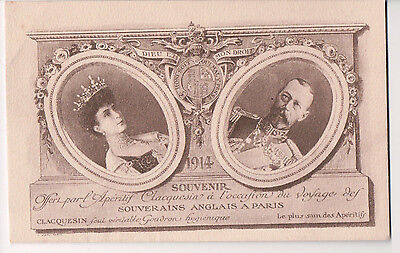 Vintage Postcard King George V & Queen Mary of Great Britian