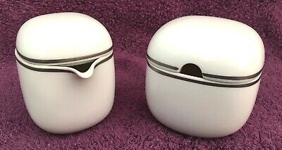 NEW Rosenthal Lanka Suomi Sugar Bowl & Creamer Set, Platinum Band - Germany