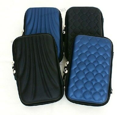 """2.5"""" HDD Bag Hardcase for Portable Hard Disk Drive Case Twin Zipper Cover Pouch"""