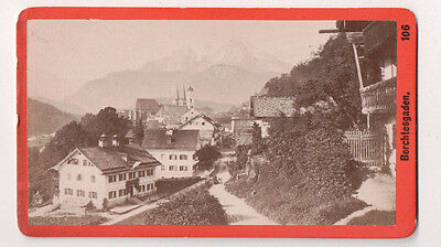 Vintage CDV Panoramic view of Berchtesgaden German Bavarian Alps