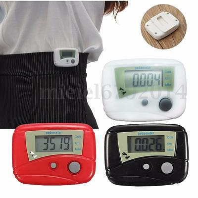 LCD PEDOMETER STEP CALORIE DISTANCE COUNTER WALKING JOGGING RUNNING Belt Clip