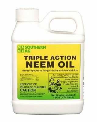Southern Ag Triple Action Neem Oil, 16oz - 1 Pint, New, Free Shipping