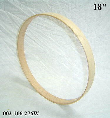 """18"""" Maple Bass Drum Hoop / Ring / Rim (Rounded Front) Unfinished 002-106-276W"""