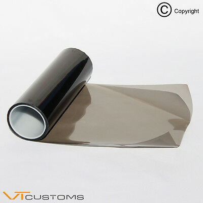 [30 x 60cm] Gunsmoke Headlight Tint Film Fog Tail Medium - Gloss Finish