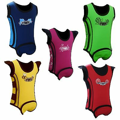 TWF Neoprene Baby Wrap Wetsuit, choice of colours and sizes for toddlers.