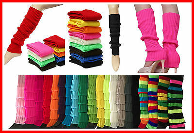 Fashion Leg Warmers Crochet Ankle Socks Stocking Fluro Neon Leggings 80s Disco