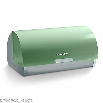 Brand New: Morphy Richards 974001 Accents Roll Top Bread Bin - Sage