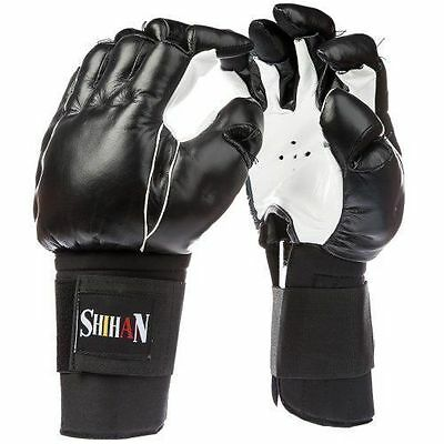 KEMPO Bong Sau Training Martial Arts Grappling Gloves Leather 1 Size Senior