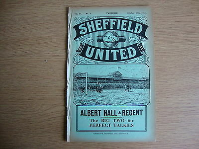 1931/2 Sheffield United v Huddersfield Town - League Division 1