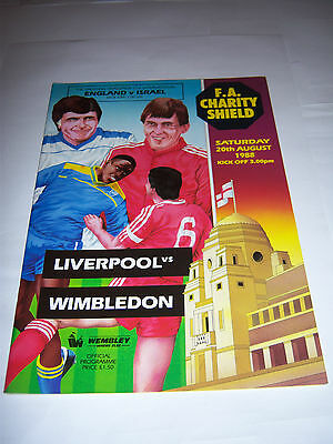 1988 FA CHARITY SHIELD - LIVERPOOL v WIMBLEDON - FOOTBALL PROGRAMME