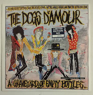 """The Dogs D'Amour A Graveyard Of Empty Bottles single 10"""" UK 1989 numerado"""