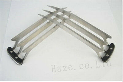 X-Men Logan Wolverine Blade Claws Stainless Steel Cosplay  2 Pcs
