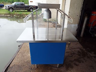 COLORPOINT Portable Buffet-Work-Serving Table w/Heat Lamp