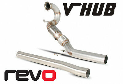 """3"""" Revo Performance Downpipe  With Decat Mqb Chassis Golf Mk7 R"""