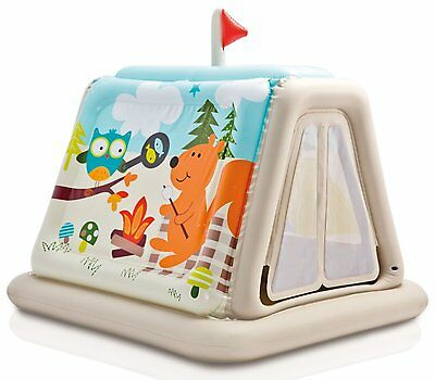 Childrens Animal Trails Inflatable Indoor Play Tent from Intex. #48634NP