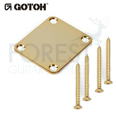 Gotoh NBS3 neck joint plate Fender style® gold with screws