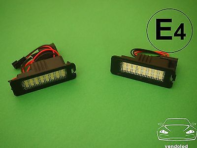 Plafones led matricula Volkswagen Golf IV, Polo 9N 9N3 (02-09) y Lupo 3L (99-06)