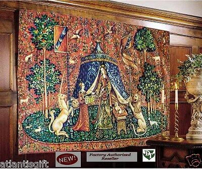 Exclusive French Mon Seul Desir (To My Only Desire)Tapestry Lady & Unicorn New