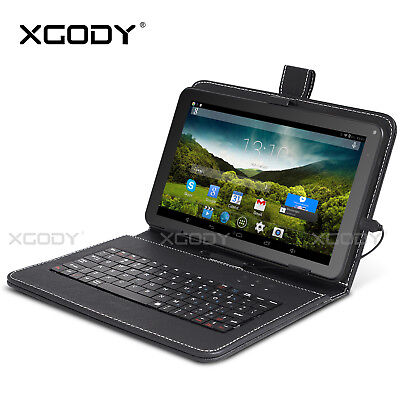 """9"""" 32GB Quad Core A33 Dual Kamera Android 4.4 Tablet PC WIFI Gebündelte Keyboard"""