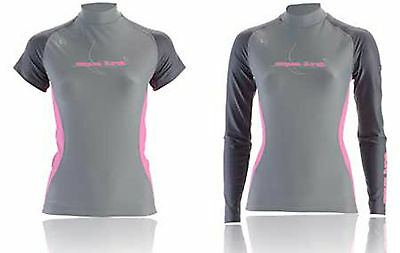 Aqualung LADIES WOMENS Rash Vest  RRP £28 SPF50 SHORT SLEEVED VERSION SIZE LARGE