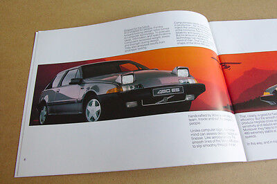 Volvo 480 Brochure - Retro Car Leaflet