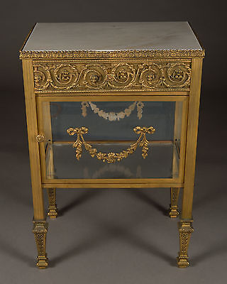 A Vintage Parisian Bronze Mounted & Marble Side Cabinet With Drawer • £1,939.79
